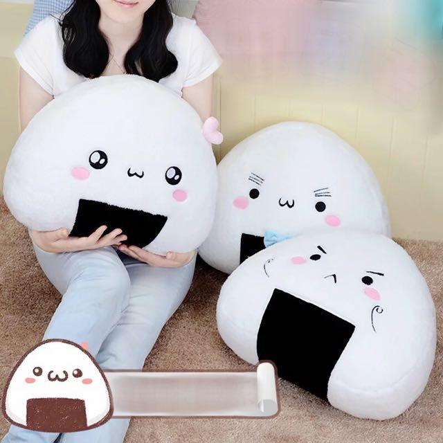 Emjoi Onigiri Plush Pillows Kawaii Pillow Plush Pillows Kawaii Plush