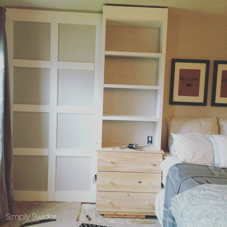 Built-ins in the Master Bedroom with an Ikea hack