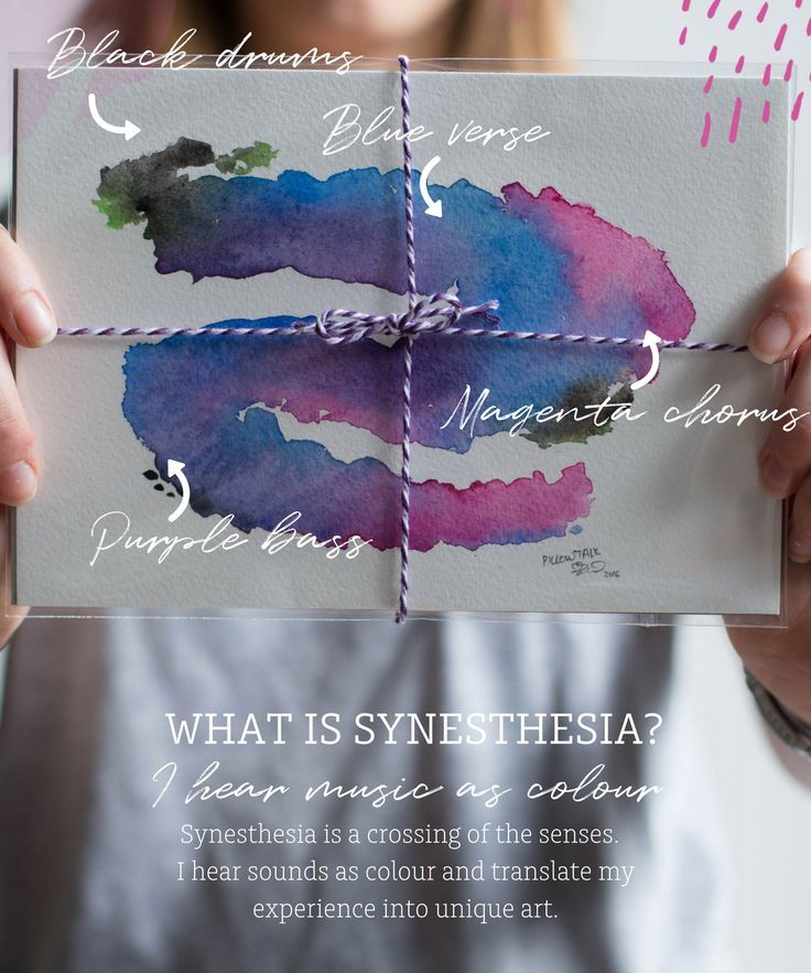 What is synesthesia? Synesthesia is a crossing of the senses, for me, this means that I see music as colour.