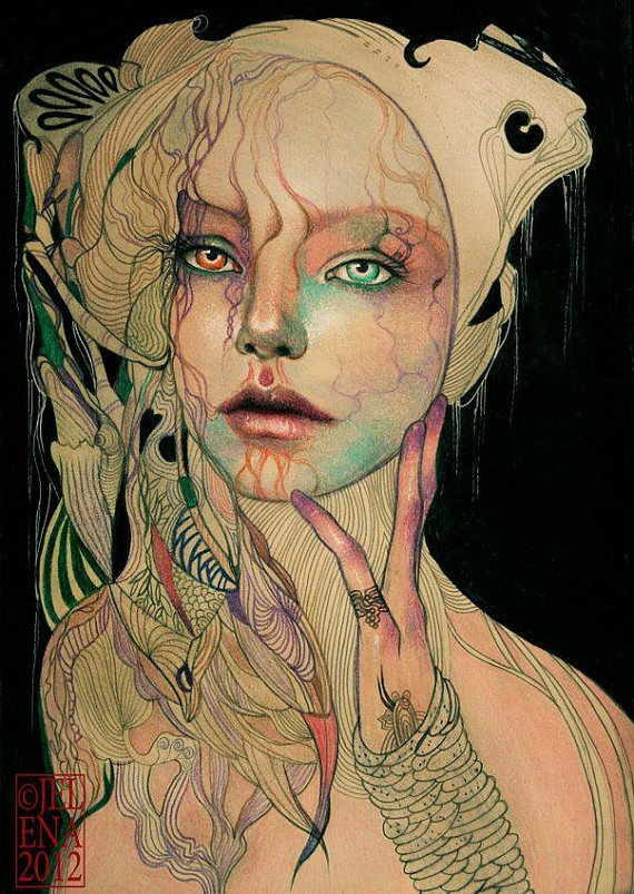 Rusalka  fine art giclee Limited ed print by Jel by redraven922, $80.00Artists, Editing Prints, Art Drawing, People Art, Fine Art, Art Gicl, Jel Ena, Nyx, Art Illustration