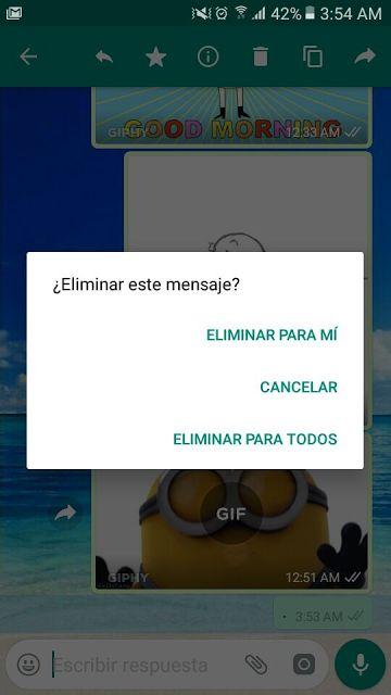 Honduras, Nación y Mundo: WhatsApp ya permite enviar gif y  eliminar mensaje...