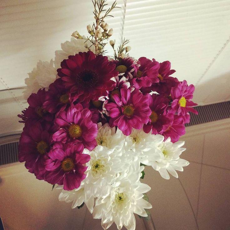 А дома как и всегда ждут свежие цветы. Любимый мужчина не забывает радовать <3  #дома #цветы #свежиецветы #хризантемы #герберы #homesweethome #flowers #freshflowers #chrysanthemum #gerbera #Лондон #London by kosheleva.alena