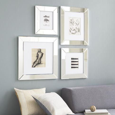 mirrored picture frames | Mirror Loft Frames | west elm - mirrored frames, monogrammable frame ...