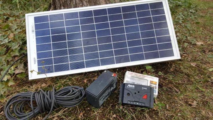 Ich biete hier eine kleine Solaranlage mit Solarpanneel, Akku und Ladestromregler an. Siehe BilderAbholung Berlin Friedrichshain