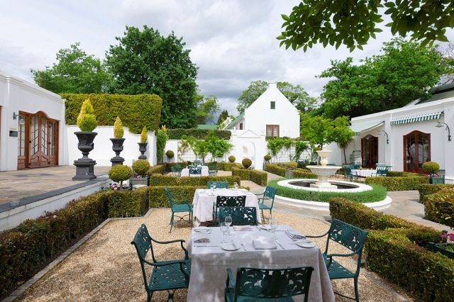 Relax in the outdoor seating of the Lanzerac Restaurant    http://www.lanzerac.co.za/terrace-rb/