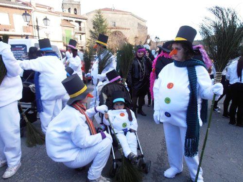 Carnaval de La Adrada 2013. Inspiradas carrozas, alegres comparsas y vecinos ataviados con graciosos disfraces recorrieron La Adrada al ritmo de charanga.