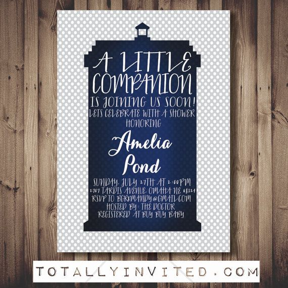 Hey, I found this really awesome Etsy listing at https://www.etsy.com/listing/196353638/doctor-who-babyshower-invitation-tardis