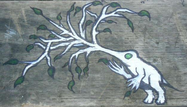 "old ""tree nose creature"" i did https://www.facebook.com/pages/Bango-Skank/360778760675199?ref=br_tf"