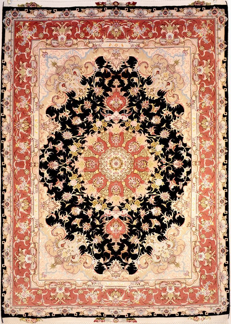 Tabriz Silk Persian Rug | Exclusive collection of rugs and tableau rugs - Treasure Gallery Retail Price: $9,500.00  You Save: 65% ($6,200.00)  Item#: 68  Category: Small(3x5-5x8) Persian Rugs  Design:   Size: 150 x 200 (cm)      4' 11 x 6' 6 (ft)  Origin: Iran  Foundation: Silk  Material: Wool & Silk  Weave: 100% Hand Woven  Age: Brand New  KPSI: 400  You Pay :$3,300