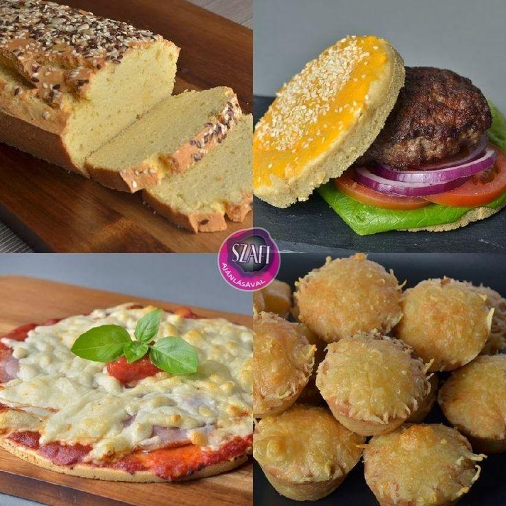 Szafi Fitt paleo kenyér, zsemle, pogácsa és pizza recept (csökkentett kalória és szénhidrát) ~ Éhezésmentes Karcsúság Szafival