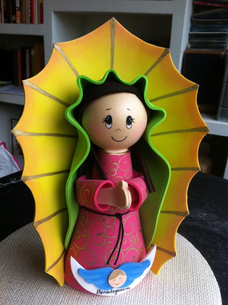 Virgen de Guadalupe en Gomaeva Llenadegracia® PVP. 25 € Pedidos a través de: contacta@llenadegracia.net