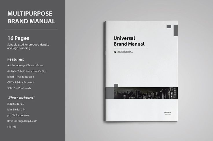 Universal Brand Manual by voryu on @creativemarket