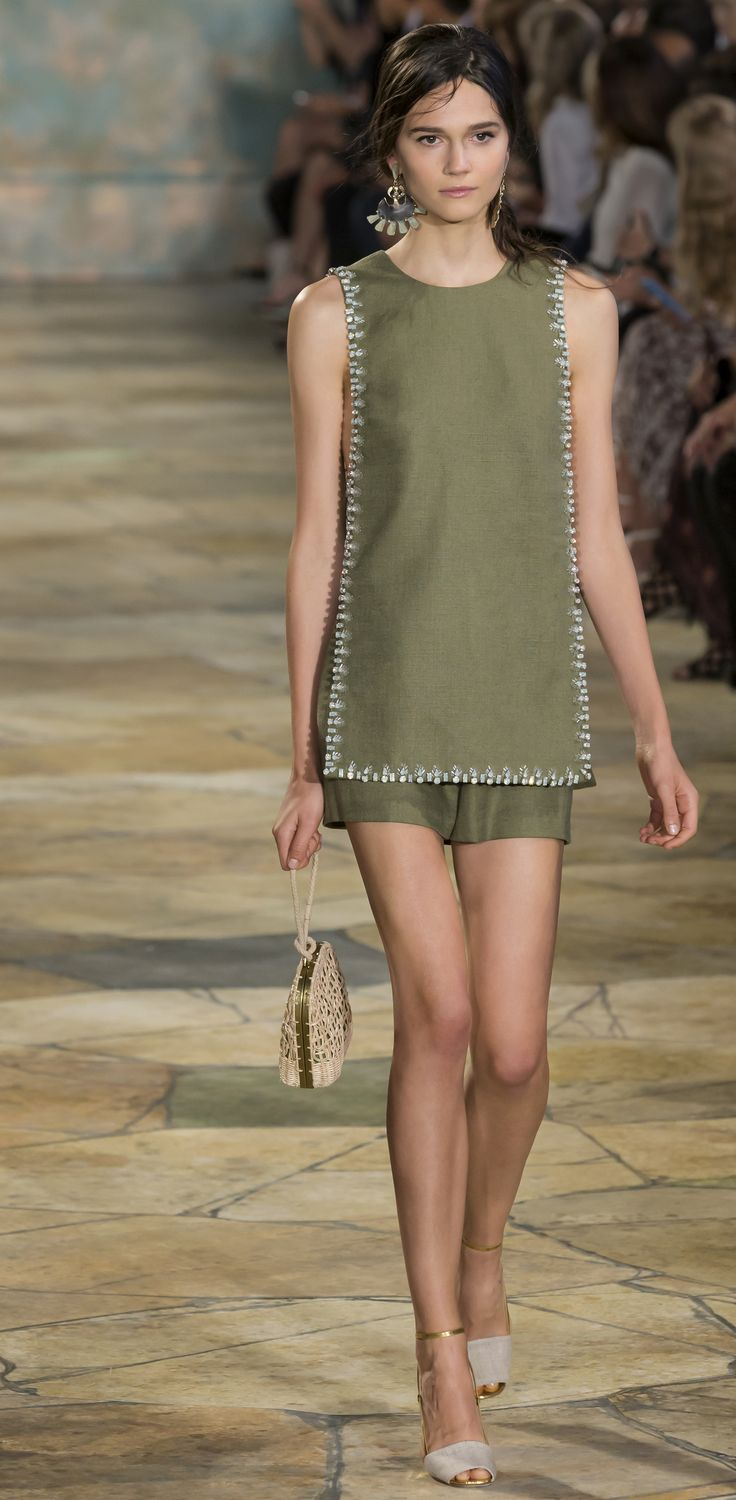 New York NY -  Rachel Finniger walks the runway at the Tory Burch fashion show during the Spring Summer 2016 New York Fashion Week at David H. Koch Theater at Lincoln Center