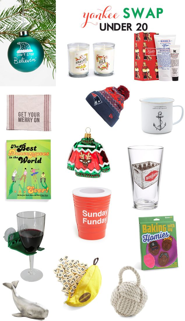YANKEE SWAP- CLEVER GIFTS UNDER 20