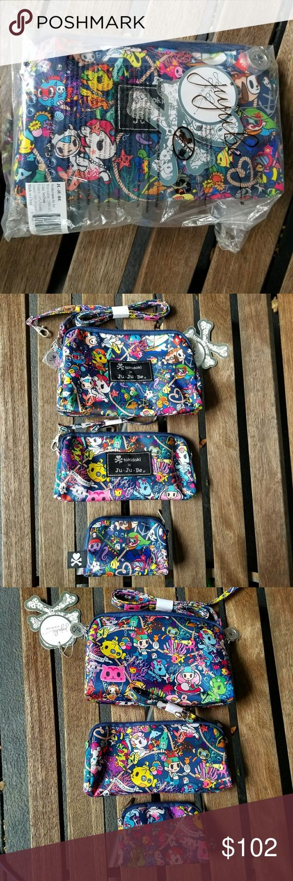 Tokidoki JuJuBe Sea Punk Be Set 3 Bag Set, Motzarella lovers rejoice, got Romantico & Perla too. NWT, in Bag only taken out for pics. tokidoki JuJuBe Bags Mini Bags