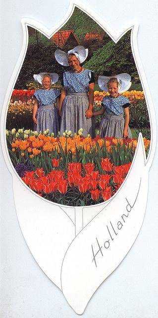 Costume-of-Arnemuiden,-Holland-(Tulip-shaped), via Flickr. #Zeeland #Arnemuiden