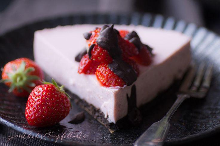 No-bake Strawberry-Cheesecake mit OREO-Boden - Zimtkeks und Apfeltarte
