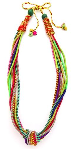 So much fun! I think this could be a DIY... #DIY #Necklace    Sequence Knot Extension Long Necklace