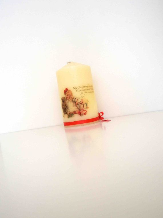 Christmas CandleVintage by KyriakisAtelier on Etsy