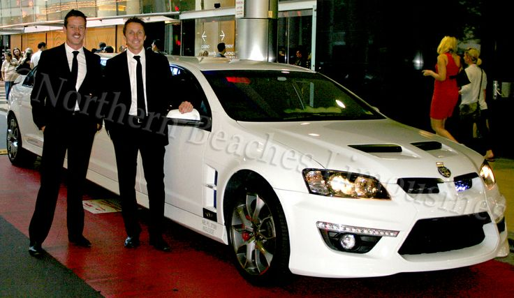 James Courtney + Cameron McConville with the HSV limousine