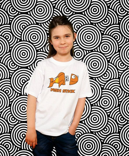 kids graphic tee Fishstick funny kids tshirt Kids Gift by store365