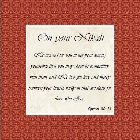 On Your Nikah Cards Greeting Cards Cards