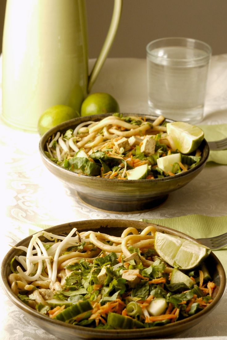 Vegan Udon Salad with Peanut Sauce Lime [Savage Cabbage] Recipes