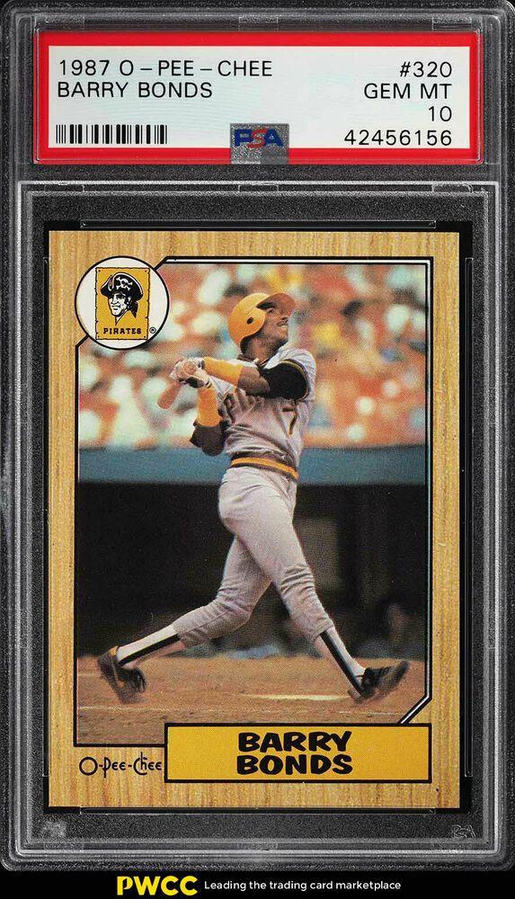 1987 O Pee Chee Barry Bonds Rookie Rc 320 Psa 10 Gem Mint Pwcc Barry Bonds Baseball Cards Baseball Cards For Sale