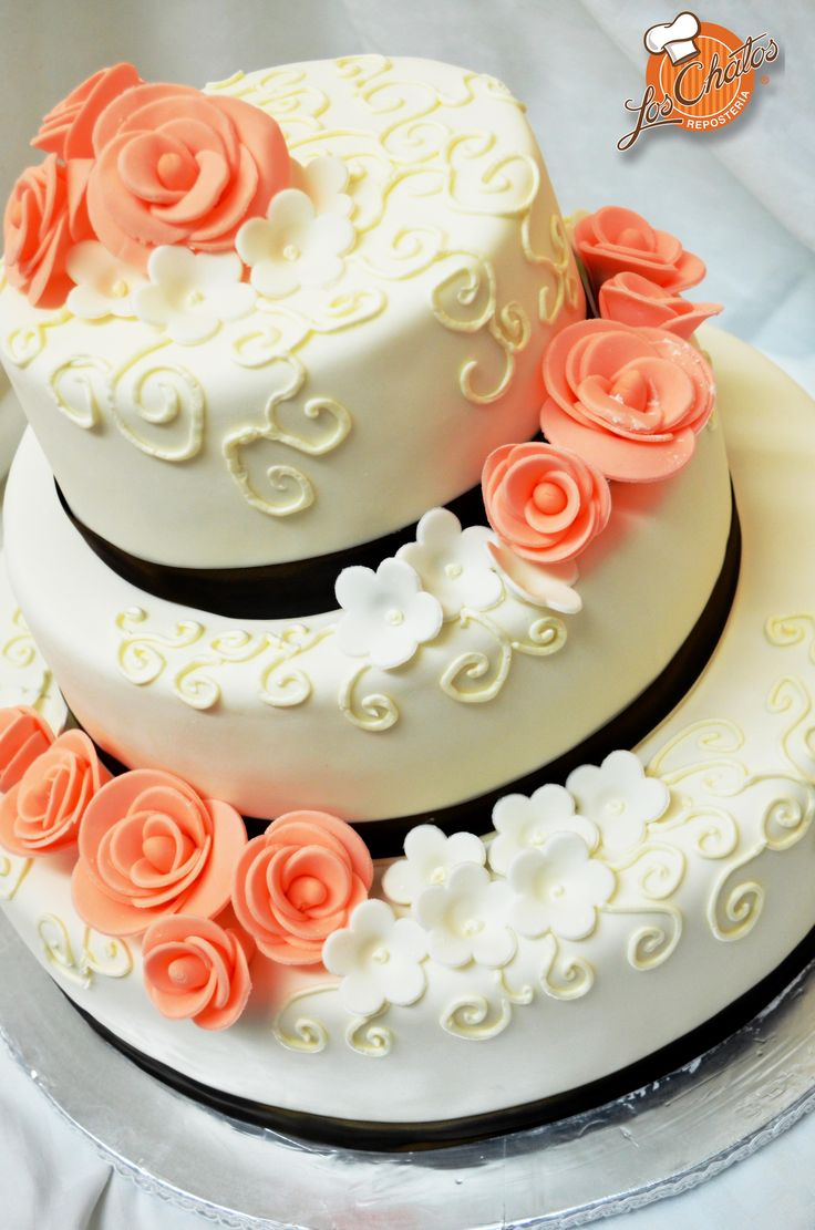 Pastel con rosas color coral dulces pinterest colors - Rosas color coral ...