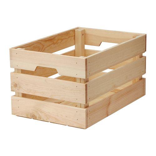 KNAGGLIG Boîte IKEA La caisse est solide et vous permet d'y ranger des choses volumineuses comme des outils ou des accessoires de jardinage.