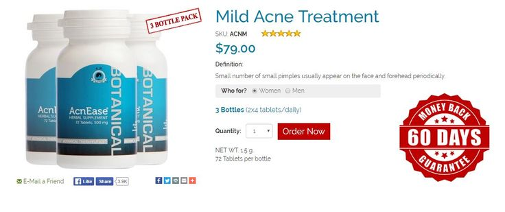 MILD ACNE TREATMENT. Small number of small pimples usually appear on the face…