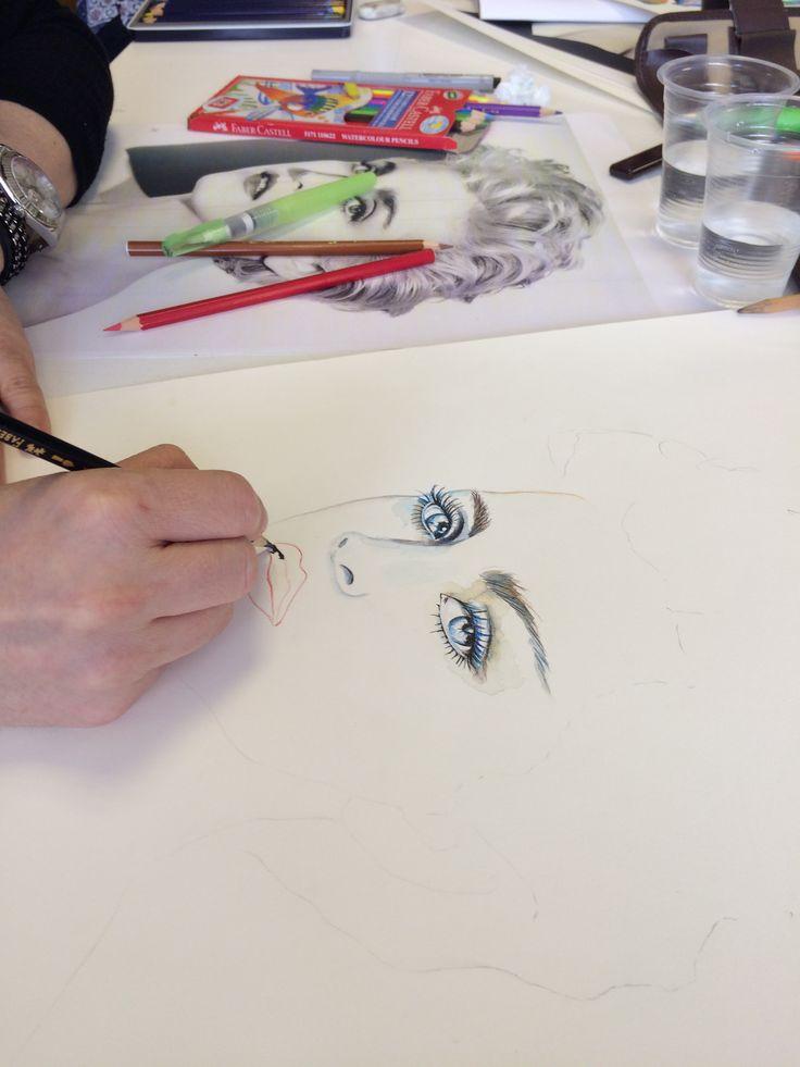Doğuş Üniversitesi Sanat ve Tasarım Fakültesi Grafik Bölümü Madonna Illustration WIP