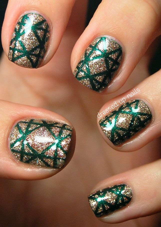 Ho Ho Holiday Nail Art! These are the 25 Classiest Designs Around via Brit + Co.