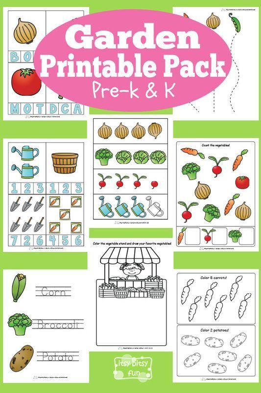 Free Garden Printables for Preschool and Kindergarten