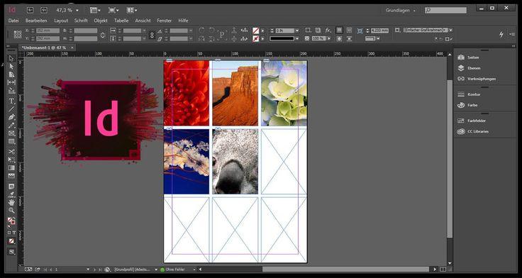 InDesign mehrere Bilder einfügen/platzieren oder erzeugen.Schritt für Schritt Anleitungsvideo