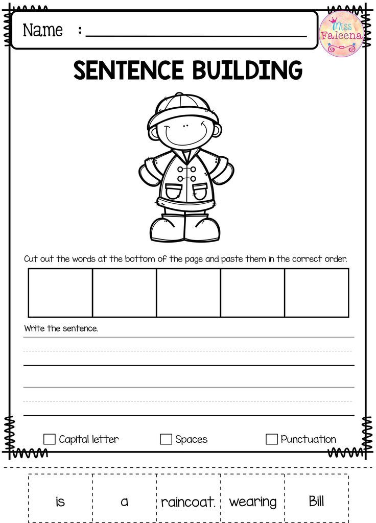Best 25+ Sentence building ideas on Pinterest : Sentence writing, Simple sentences worksheet and ...