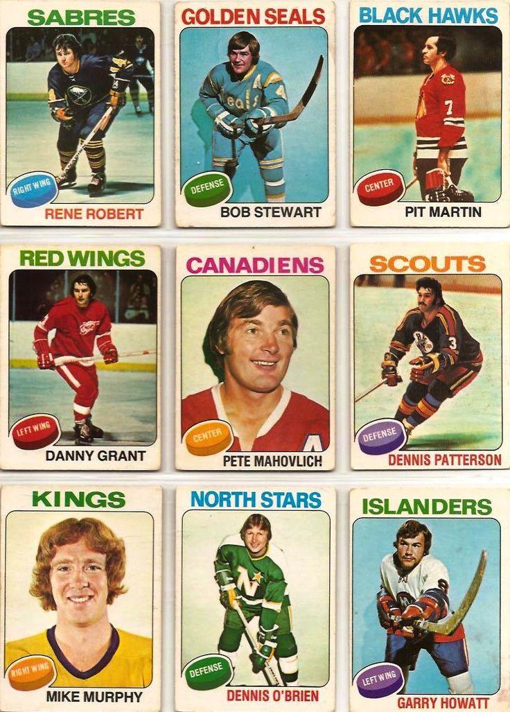 Rene Robert, Bob Stewart, Pit Martin, Danny Grant, Pete Mahovlich ...