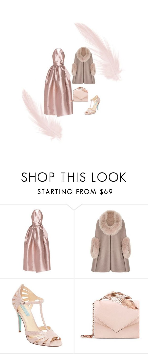 """""""Ballet Pink"""" by rahme-studio ❤ liked on Polyvore featuring Alexis Mabille, Betsey Johnson and RALPH & RUSSO"""
