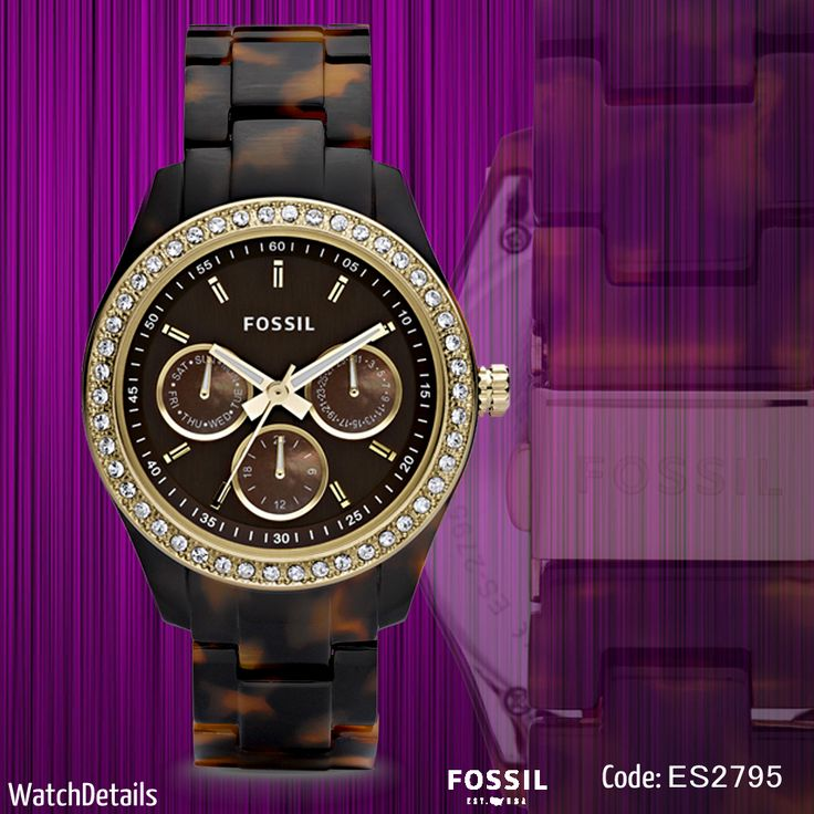 Check Now Details Stella Multifunction Resin Watch - Tort with Gold-Tone http://goo.gl/JNwvum