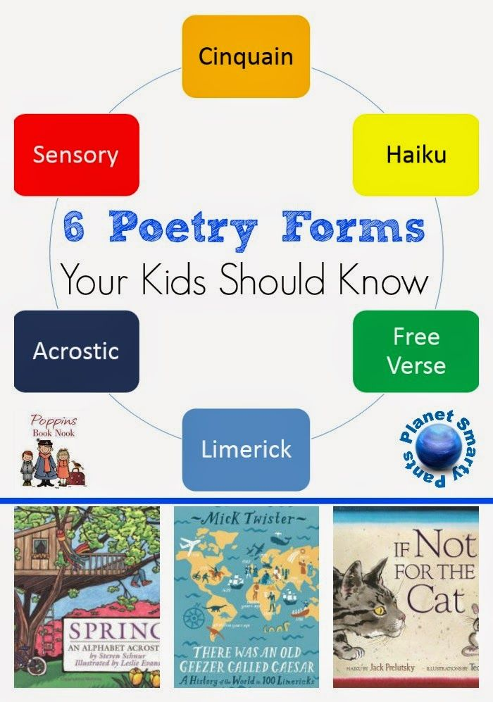 Poetry forms for kids with free printables and examples