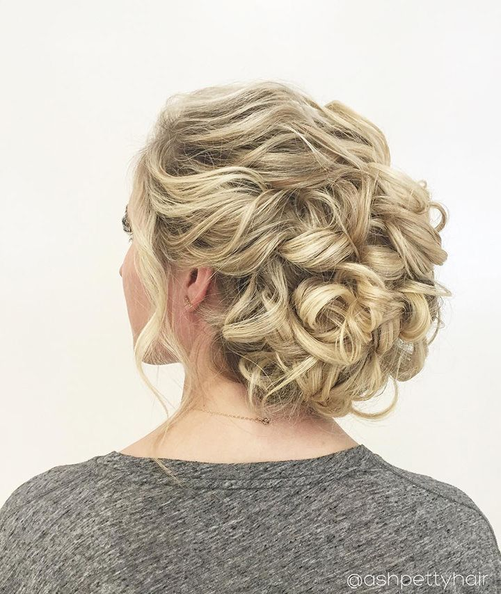 curly wedding updo - so beautiful! ~  we ❤ this! moncheribridals.com