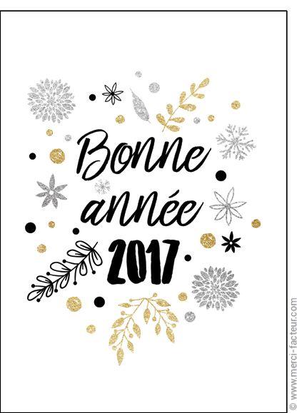 Carte Bonne ann�e sur fond blanc pour envoyer par La Poste, sur Merci-Facteur !