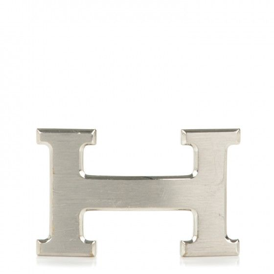 This is an authentic HERMES Brushed Palladium 32mm H Belt Buckle. This luxurious belt buckle is a crafted Hermes H, composed of in brushed palladium.