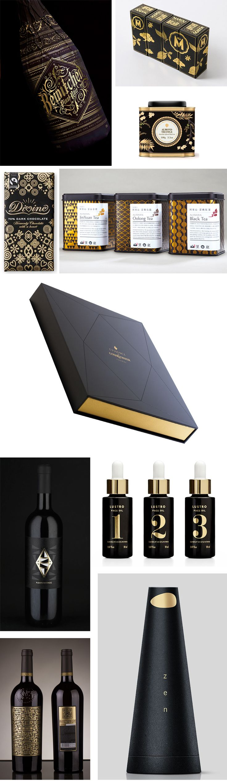 Gold and Black Förpackad -Blogg om Förpackningsdesign, Förpackningar, Grafisk Design - CAP&Design