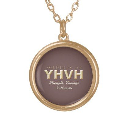 SOLDIERS OF YHVH Christian Gold Plated Necklace - accessories accessory gift idea stylish unique custom