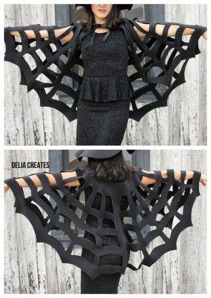 Super Last-Minute Idee für ein Halloween Kostüm ohne zu nähen. Noch mehr Halloweenideen gibt es auf www.spaaz.de
