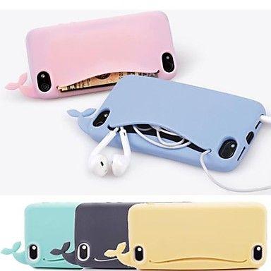 [CyberMondaySale]df lovly siliconen walvis zachte hoes voor iPhone 4 / 4s (verschillende kleuren) – EUR € 4.02