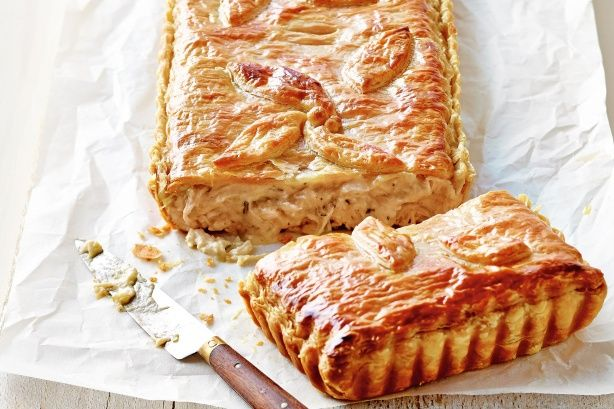 Barbecue chicken is convenient, plus the roasted flavour makes for a rich pie.
