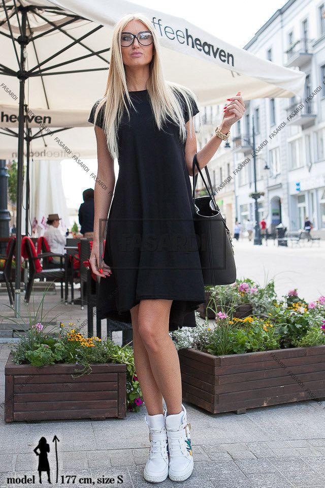 Sukienka czarny | NOWOŚCI Odzież damska \ sukienki WYPRZEDAŻ
