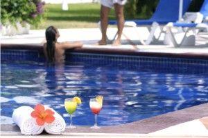 Pool Bar Hotel Plaza Pelicanos Grand Beach Resort Puerto Vallarta